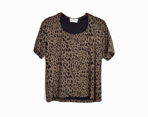 spandex leopard tee