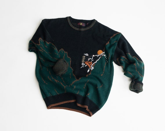 mountain climber sweater | men's rock climbing sweater | mountaineering