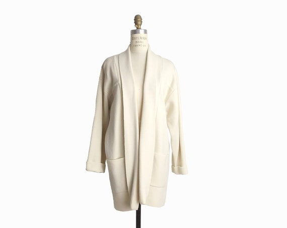 ivory lambswool duster cardigan | minimalist sweater