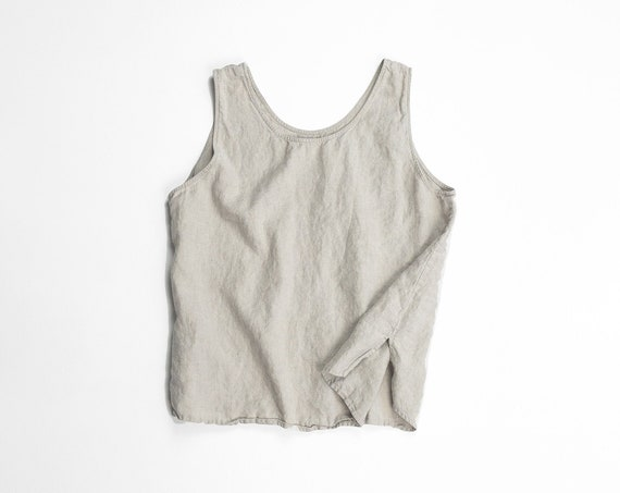 natural linen tank top | minimalist