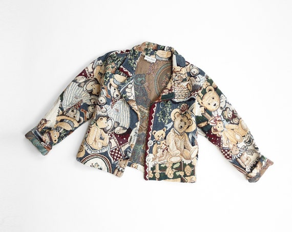 teddy bear picnic jacket | tapestry coat