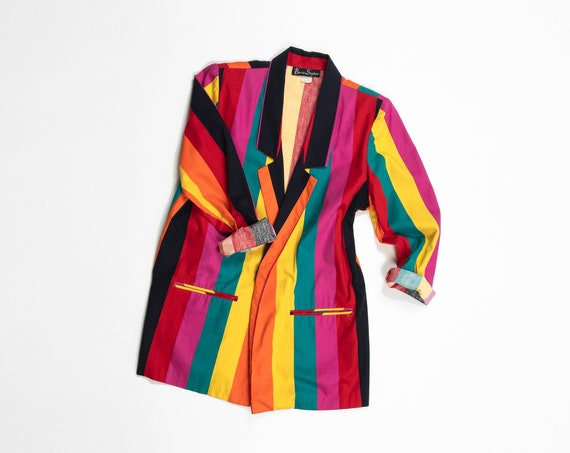 rainbow striped rowing blazer | club jacket