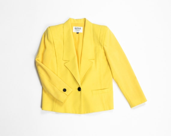 canary yellow blazer | 90s vintage jacket