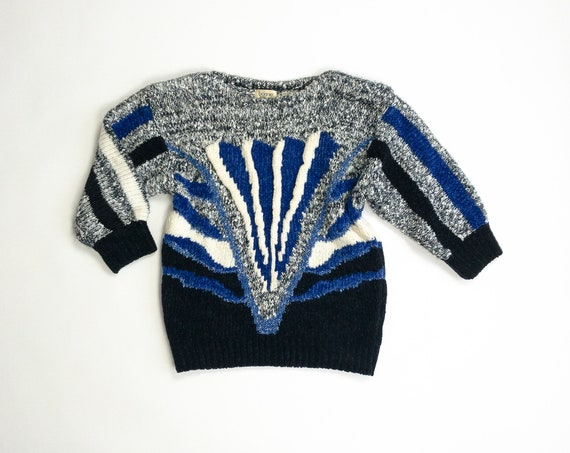 metallic striped chenille sweater
