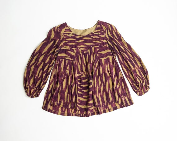 ISABEL MARANT Printed Silk Peasant Blouse | Cutout Top