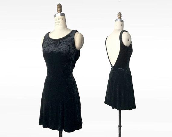 black velvet party dress | 90s crushed velvet dress | vintage Betsey Johnson