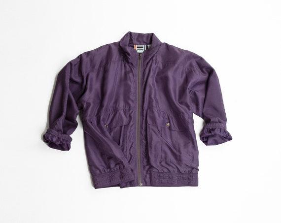 purple silk track jacket | 90s windbreaker