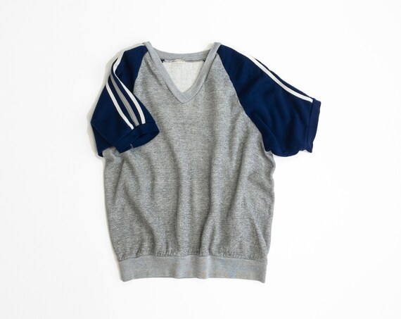 vintage athletic sweatshirt | three stripe