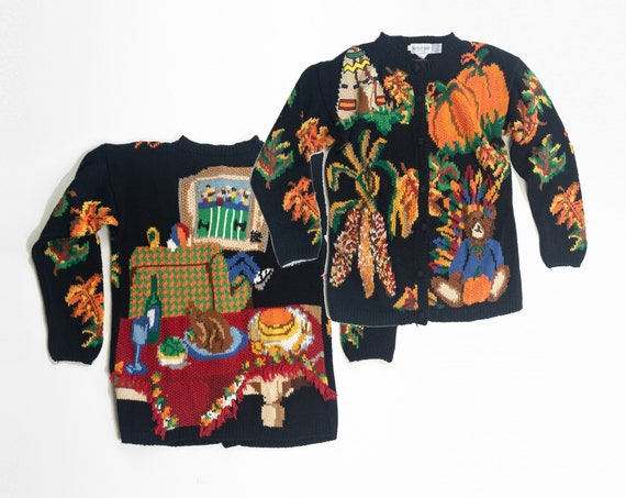 tacky Thanksgiving sweater | vintage ugly sweater
