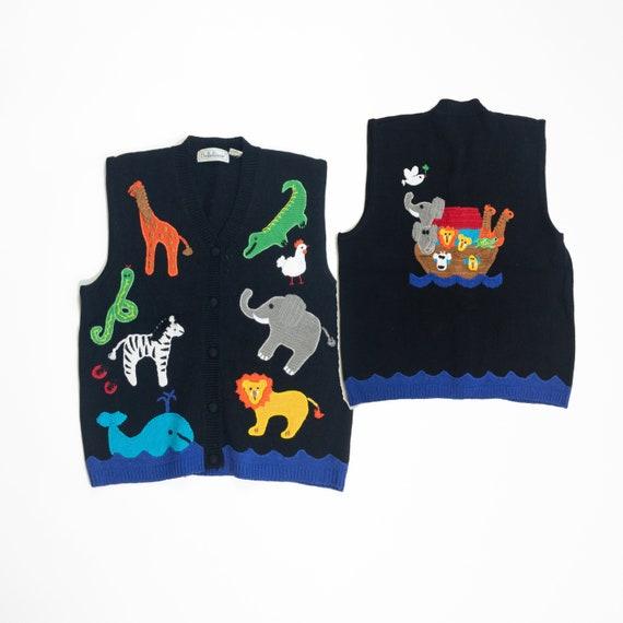 Noah's ark sweater vest  | teacher sweater