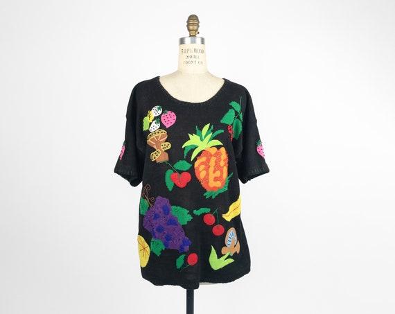 wacky fruit sweater | vintage 90s sweater