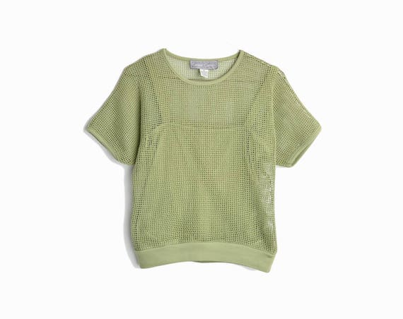 safari green netting top