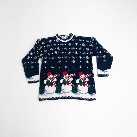 vintage 90s ugly Christmas sweater | Frosty the sn