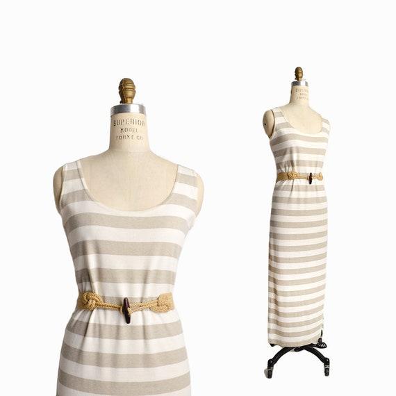 natural stripe maxi dress | summer tank dress
