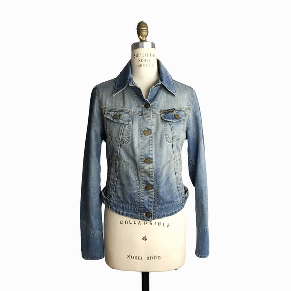 VIVIENNE WESTWOOD Anglomania x LEE Icon Jacket Distressed Denim Jean Jacket - Women's M