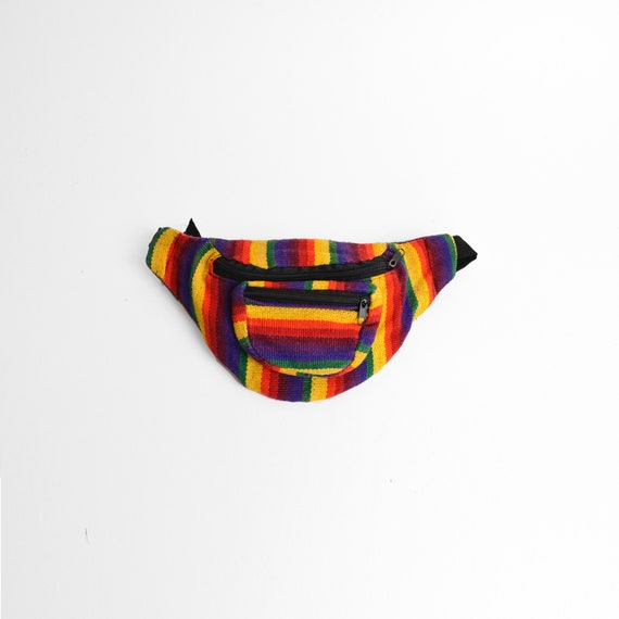 rainbow stripe fanny pack | vintage bum bag
