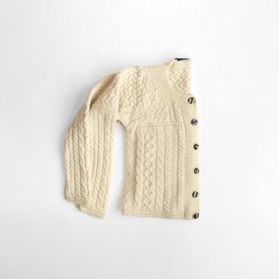 Irish wool cardigan | fisherman sweater | merino wool