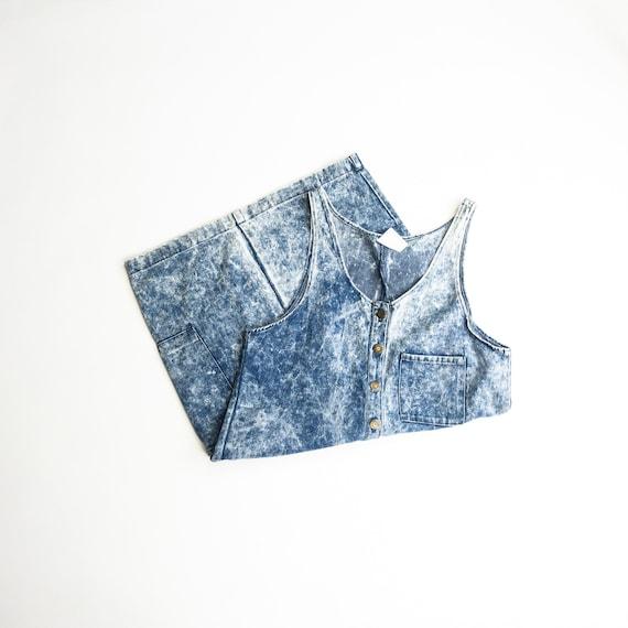 acid-washed denim dress | 90s | button-front dress | blue jean dress
