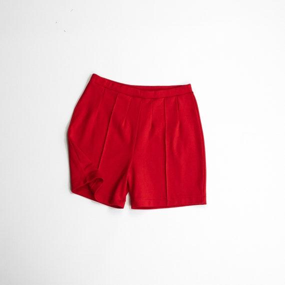 red hot shorts | 70s stretchy shorts