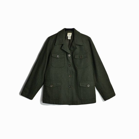 green wool field coat | utility jacket