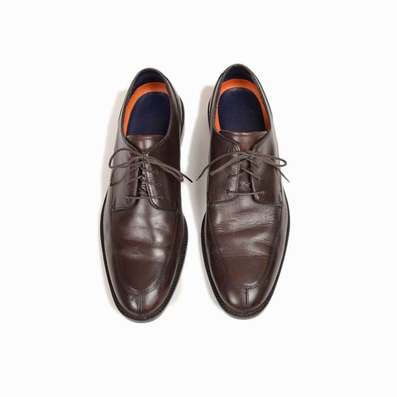 COLE HAAN Lenox Hill Split Oxford Shoes in T Moro Dark Brown - EUC - Men's 8