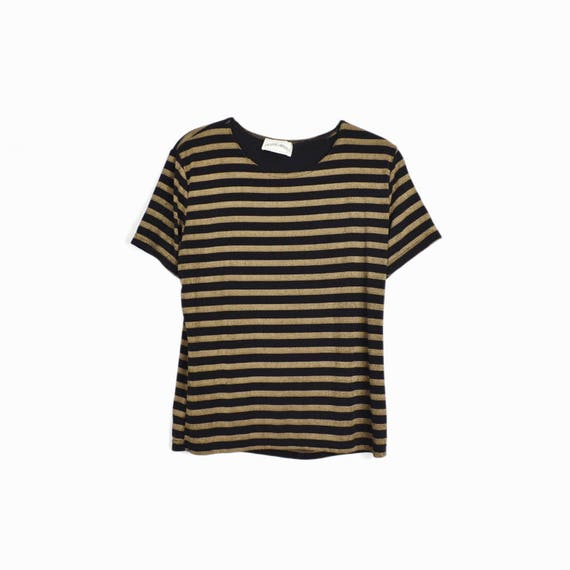 90s striped tee | spandex top
