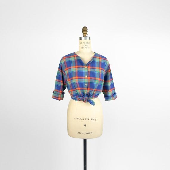 blue madras plaid shirt