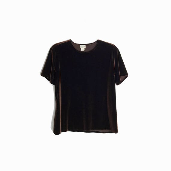 chocolate velour top | 90s velvet tee