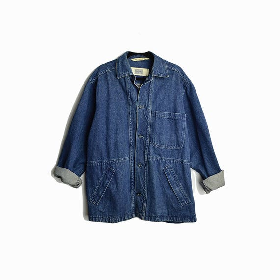 vintage denim chore coat | men's blue jean jacket | vintage Paul Smith