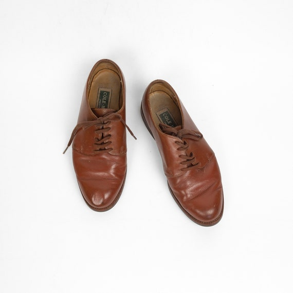 sienna brown leather oxfords | women's vintage shoes