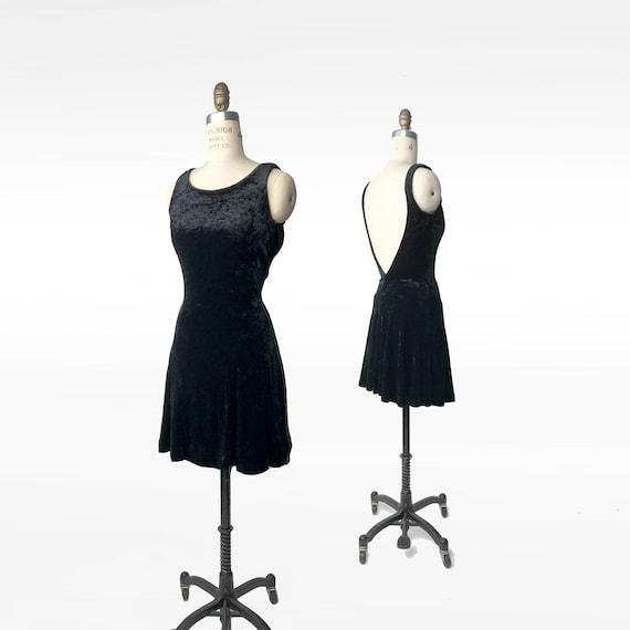 black velvet party dress | 90s crushed velvet dres