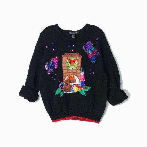 90s ugly Christmas sweater | joy & noel sequined sweater