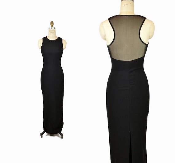 black statue dress | floor length