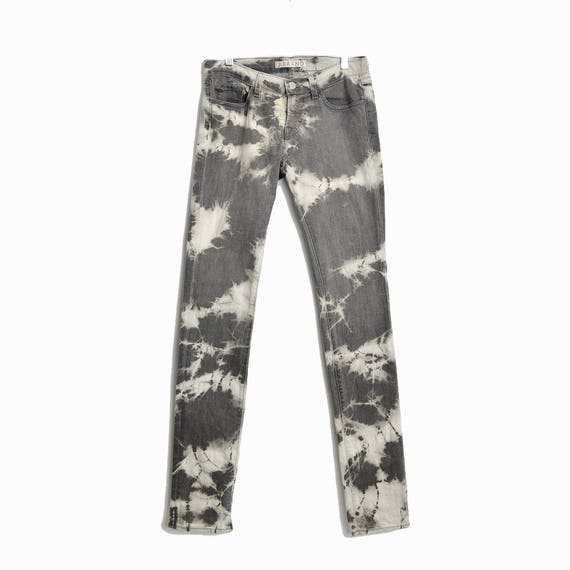 "J.BRAND Low Rise Pencil Leg Jeans in ""Cult"" Gray Tie-Dye #912C026 - Size 27 / Pre-Owned"