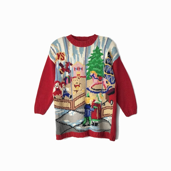 90s tacky Christmas sweater | toy shop | Ugly Chri