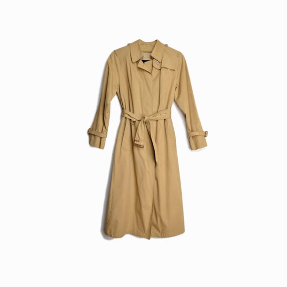 vintage tan trench coat | belted trench