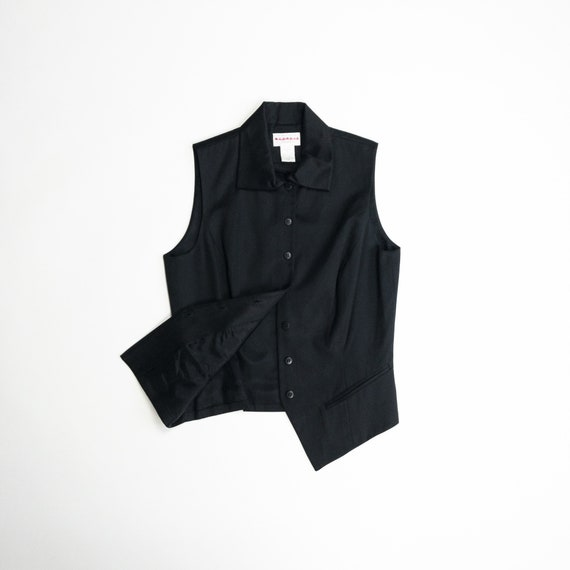 black silk satin vest | formal vest