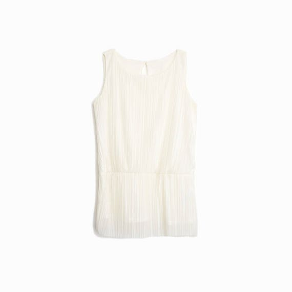 ivory accordion pleated top