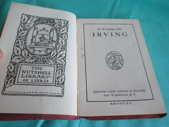 baa81421984bf An Evening with Irving by Sherwin Cody - The Nutshell Library Pocket Sized  Antique Book 1927