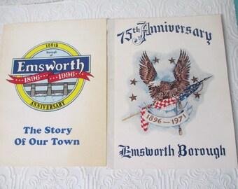 Emsworth Bourough PA Pennsylvania Vintage Community Books, 1971 and 1996