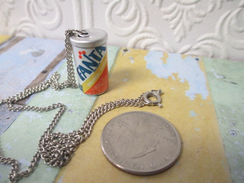 FANTA SODA POP Can Vintage Necklace 1980s Deadstock