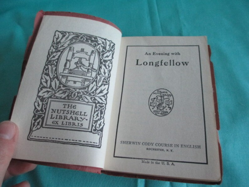 0d3529c00c887 An Evening with LONGFELLOW by Sherwin Cody - The Nutshell Library Pocket  Sized Vintage Book 1944