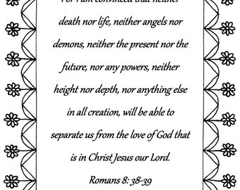 romans 838 39 bible verse coloring page download