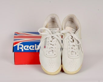 4c5f91fc8c052c Reebok aerobics shoes with box 80s vintage Korea low top sneakers