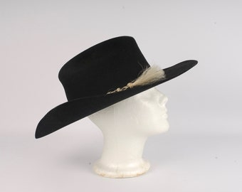 6e4ac24a rancher worn black cowboy hat wool felt Master Hatters of Texas western