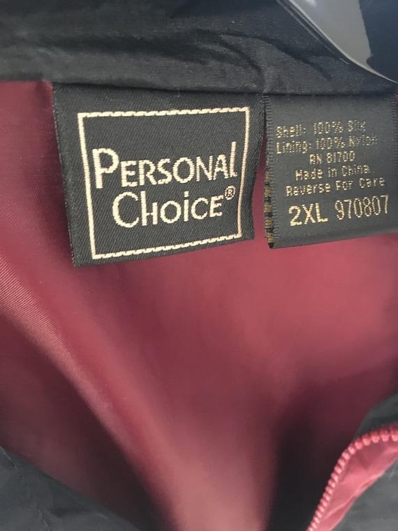 men's 90s vintage silk bomber jacket 2XL Personal… - image 6