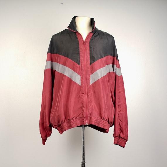 men's 90s vintage silk bomber jacket 2XL Personal… - image 1