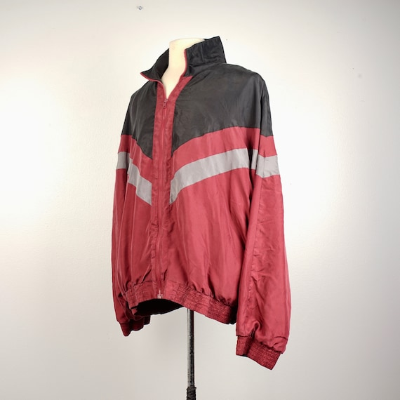 men's 90s vintage silk bomber jacket 2XL Personal… - image 2