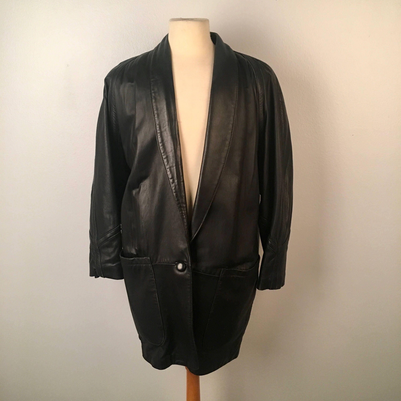 sport en manteau cuir noir pour homme manteau en Long en cuir veste doublée  blazer Tibor a14b1c31610
