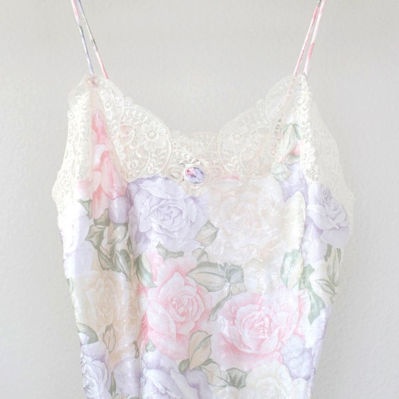 Christian Dior floral lace and satin camisole spa… - image 2